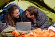 tent laptop